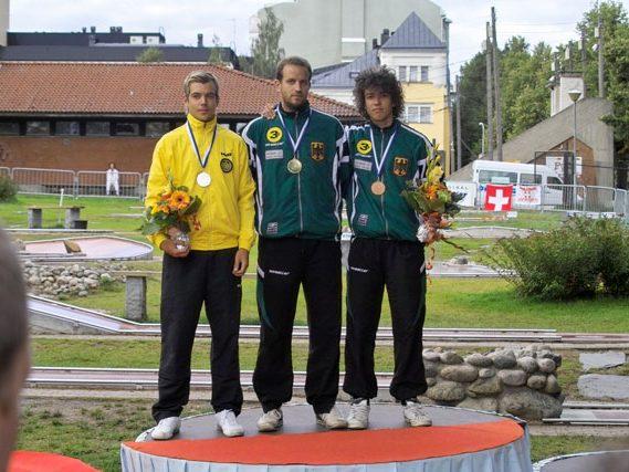 links 2. Platz Jasper Andersson (SWE) - Mitte 1. Platz Harald Erlbruch (GER) - rechts 3. Platz Marco Templin (GER)