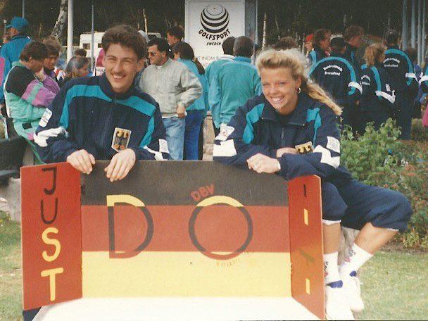 links Andreas Winkel (GER), rechts Alice Kobisch (GER)