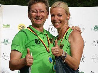 links: Europameister Roman Kobisch (GER) - rechts: Europameisterin Alice Kobisch
