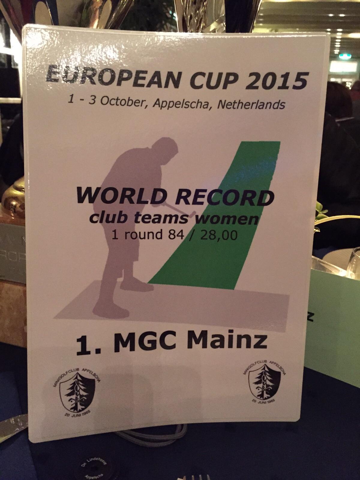 2015 EC Appelscha WorldRecord